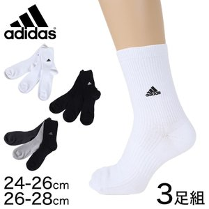 adidas ショートソックス 3足組 消臭加工 24-26cm・26-28cm (アディダス ソックス 靴下 メンズ 男 セット まとめ買い フクスケ)|suteteko