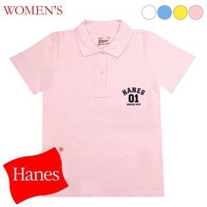 Hanes/ヘインズ シャツ レディース 半袖ポロシャツ shirt (S〜LL)   (在庫限り/HJ) (JG3100P16)|suteteko