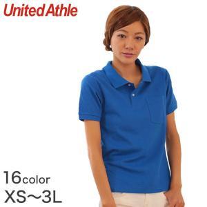 レディース 6.2オンス ハイブリッドポケット付きポロシャツ XS〜3L (United Athle レディース アウター ポロシャツ カラー) (在庫限り)|suteteko