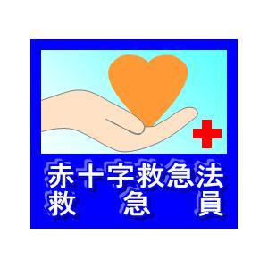 赤十字救急法救急員 25×28サイズのステッカー