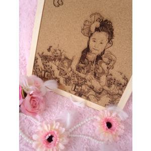 大切な記念日を鮮明に! Love&Tangle Kids  Sサイズ(メッセージ付き コルクボード)【代引不可】彫刻/記念|suwako-mall