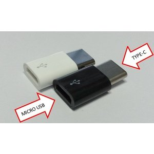 【送料無料】Micro USB → USB type-C 変換コネクタ 2個セット マイクロUSB/type C【代引不可】 【01】|suwako-mall