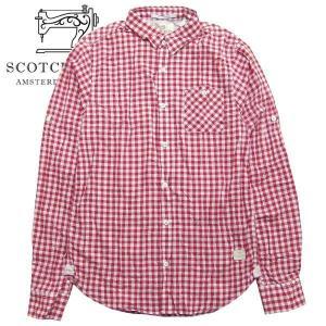 スコッチアンドソーダ メンズ Scotch&Soda 長袖 チェック シャツ  RED 20028F S|suxel