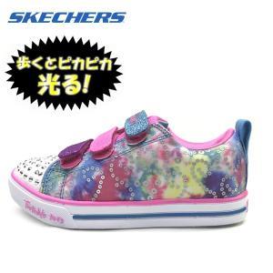 新作 光る SKECHERS スケッチャーズ スニーカー ガールズ SPARKLE LITE RAINBOW BRIGHTS 子供靴|suxel