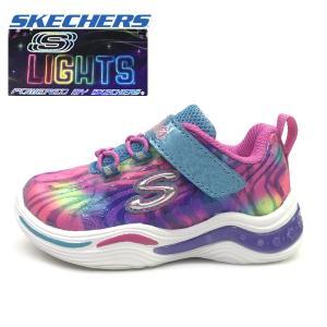 新作 光る SKECHERS スケッチャーズ スニーカー ベビー ガールズ Power Petals - Flowerspark  子供靴 12-16cm|suxel