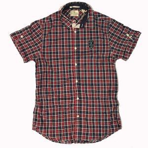 スコッチアンドソーダ メンズ Scotch&Soda 半袖 チェック シャツ 21113RF RED L|suxel