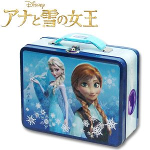 子供 アナ雪 缶ケース  横19.5cm×高さ15.3cm×幅7.2cm|suxel