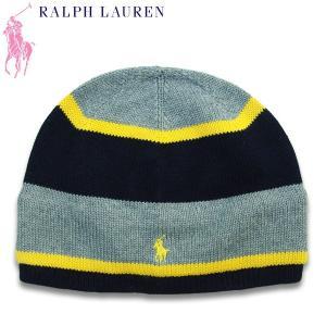 ポロラルフローレン キッズ 帽子 ハット Polo by Ralph Lauren ストライプド コットンハット 帽子 つばの外周45.7cm(4-7歳)管理:6400- suxel