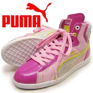 23cm  PUMA プーマ ジュニア ファーストラウンドシャーベットBG ピンク キッズ スニーカー|suxel