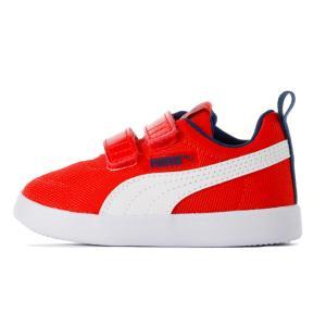 新作 プーマ Puma ベビー スニーカー コートフレックス V2 メッシュ V INF 13-16cm 足の甲部分が広いため脱ぎ履きがしやすいベビー靴|suxel
