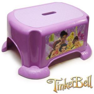 ティンカーベル TINKERBELL Disney ディズニー キッズ スツール 踏み台 子ども ラッピング不可  女の子 42cmx34cm 高さ19cm 座面37cmx26cm|suxel