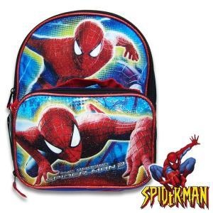 子供 SPIDER MAN スパイダーマン リュックサック バックパック キッズ  幅23.5cm×高さ27.5cm×マチ9.5cm|suxel
