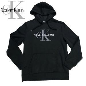 新作 Calvin Klein カルバンクライン メンズ CKロゴ プルオーバー パーカー フーディ裏起毛|suxel
