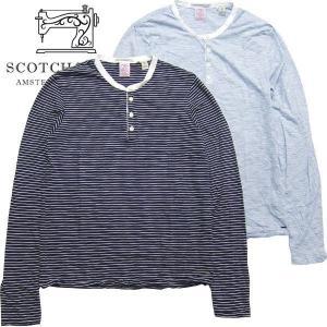 スコッチアンドソーダ メンズ Scotch&Soda ロンt 長袖シャツ  tシャツ ヘンリー ボーダー 50007HF S|suxel