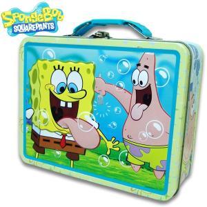 スポンジボブ SPONGE BOB 缶ケース缶 BAG バッグ ギフト おもちゃ箱  男の子 横19.5cm×高さ15.3cm×幅7.2cm|suxel