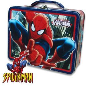 スパイダーマン SPIDER MAN 缶ケース缶 BAG バッグ ギフト おもちゃ箱  男の子 横19.5cm×高さ15.3cm×幅7.2cm|suxel