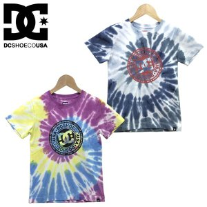 130-160cm  DC SHOES ディーシー 子供服 キッズ ジュニア タイダイ 半袖 Tシャツ  19 KD TIEDYE SS|suxel