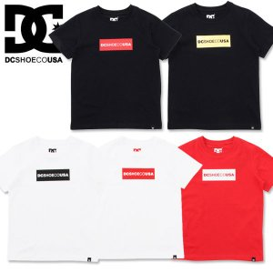130cm DC SHOES ディーシー キッズ ボックス ロゴ 半袖 Tシャツ17 KD BOX LOGO SS|suxel