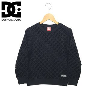 140cm DC SHOES ディーシー 子供服 キッズ ジュニア 総柄フロッキープリント トレーナー  18KD SLANTALL CREW|suxel