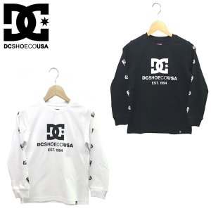 130-160cm DC SHOES ディーシー 子供服 キッズ ジュニア 長袖 ロンT 18KD WORLDWIDE FLAGS LS|suxel