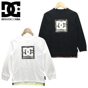新作 DC キッズ ジュニア 19 KD BOX STAR LS キッズ Tシャツ 長袖 プリント ロゴ クルーネック 130-160cm|suxel