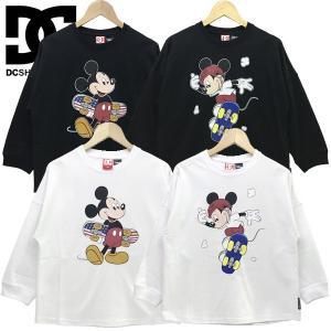 ディーシー DC キッズ Tシャツ 長袖 ミッキー ディズニー クルーネック19 KD MICKEY PRINT LS 130-160cm|suxel