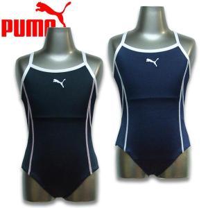 セール Puma 子供 プーマ キッズ Girls パイピング スイムスーツ スクール水着|suxel