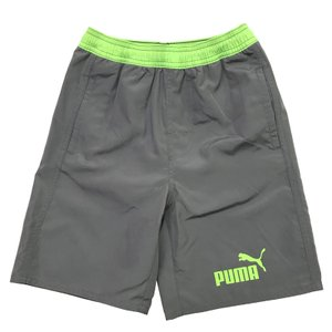 新作 プーマ Puma スクール水着 プーマ ジュニア ボードショーツ パンツ 子供用 男の子 グレー/グリーン プール 水泳 海 山 キャンプで大活躍|suxel