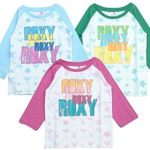 100cm ROXY ロキシー キッズ/ジュニアMINI LEXIE 3/4 BASEBALL キッズ Tシャツ 7分袖Tシャツ suxel