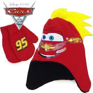 CARS カーズ マックイーン  耳付きニット帽&ミトンセット 40-44cmベビー  キャラクター 管理:1,800-|suxel