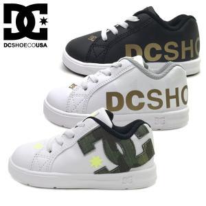 新作  DC SHOES ディーシー ベイビー キッズ  スニーカー 子供靴 TS COURT GRAFFIK ELASTIC SE UL SN (13-16cm)|suxel