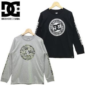 新作 DC キッズ ジュニア CIRCLE STAR LS 2 BOY キッズ Tシャツ 長袖 プリント クルーネック スタンダードフィット 130-160cm|suxel