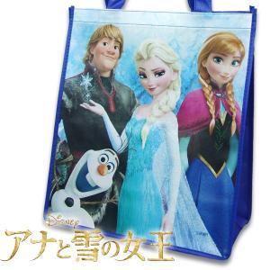 アナ雪  子供  ラージ エコバッグ 鞄 幅34.5cm×高さ39cm×マチ17cm|suxel