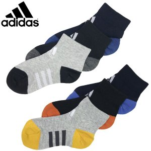 新作 adidas アディダス キッズ くつ下 3P ショートソックス 19-21cm 21-23cm    |suxel