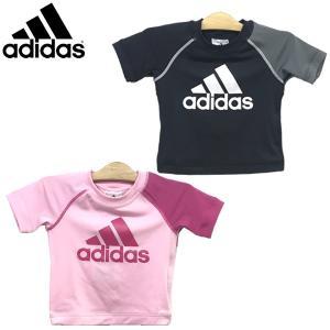 セール  水着 adidas アディダス キッズ ラッシュガード ショートスリーブ 100-160cm|suxel