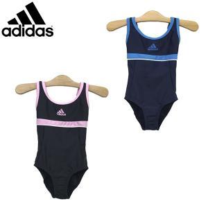 セール  水着 adidas アディダス ガールズ Uバック ワンピース スイム 女児スクール水着 100-160cm|suxel