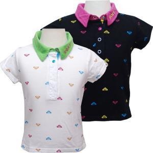 100cm ROXY ロキシー キッズ/ジュニアMINI ROXY LOVERS 半袖 ポロシャツ suxel