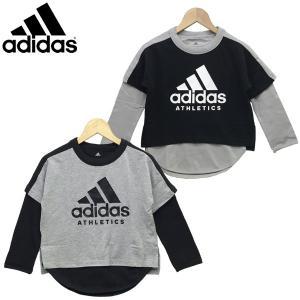 新作 adidas アディダス  ジュニア キッズ 長袖シャツ トレーニングウェア B SPORT ID 2in1 ロングスリーブTシャツ(2枚セット) 120-160cm|suxel