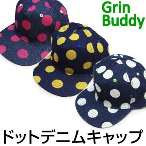 在庫処分特価 Grin Buddy グリンバディー 帽子 キャップ デニム 管理2,300-  suxel
