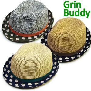 在庫処分特価 Grin Buddy グリンバディー ドット 中折れ ハット キッズ/子供服/こども服/ハット/帽子/お誕生日プレゼント 管理2,900- suxel