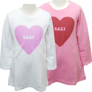 100cm ROXY ロキシー キッズ/ジュニアMINI SWEET HEART キッズ ロンT(ロング丈)長袖 suxel