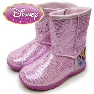 Disney ディズニー PRINCESS  プリンセス キッズ ブーツ 子供靴 キラキラ ピンク   suxel