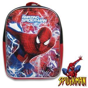 子供 SPIDER MAN スパイダーマン キッズ リュックサック バックパック 幅23cm×高さ28cm×マチ8.5cm|suxel