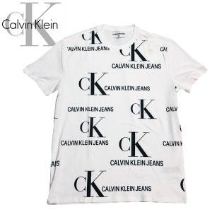 新作 Calvin Klein カルバンクライン ALLOVER S/S TEE 半袖 フロント総柄 ロゴ Tシャツ|suxel