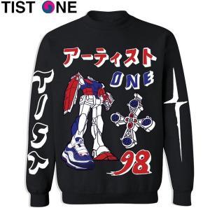 メンズ TIST ONE ティストワン 98 GUNDAM Cewneck Sweatshirts スウェットシャツ suxel