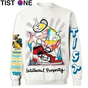 メンズ TIST ONE ティストワン FISH Cewneck Sweatshirts スウェットシャツ suxel