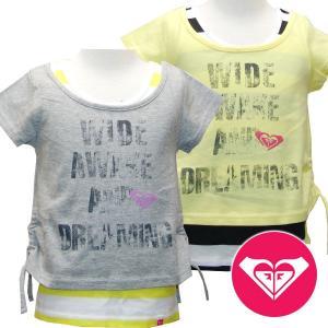 セール ROXY ロキシー キッズ/ジュニアMINI DAZZLE キッズ Tシャツ タンク 重ね着セット   suxel