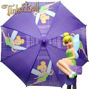 子供 TINKERBELL ティンカーベル かさ 傘 アンブレラ 子供用 長傘 全長51cm/傘半径40cm|suxel