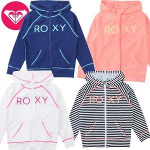 セール!! ROXY ロキシー キッズ / ガール UVカット長袖 ロゴ ラッシュパーカ MINI RASHIE suxel