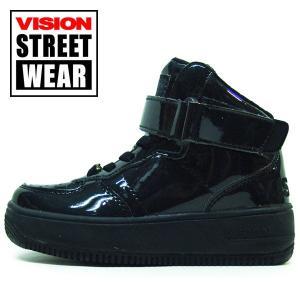 16cm 子供 VISION STREET WEAR  キッズ スニーカー ヴィジョンマディソン ハイ エナメルダンス|suxel